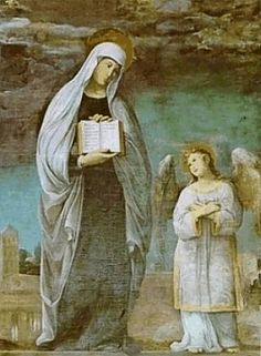 Saint Frances of Rome: Patroness of Benedictine Oblates.  A widow who gave her villa as a convent. Today her home in Rome is a convent that accepts guests/ travelers.