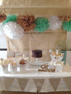 Una boda en los colores del mar... Mesa de dulces