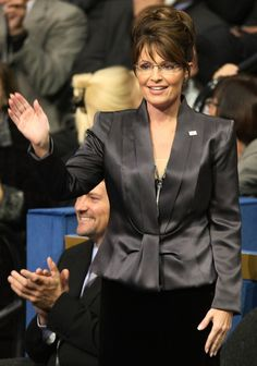 Sarah Palin Photos Photos: John McCain Accepts The Republican Party Nomination Sarah Palin Hot, Grey Pencil Skirt, Black Stains, Sexy Older Women, Pink Jacket, Powerful Women, Personal Style, Celebrities, November 8