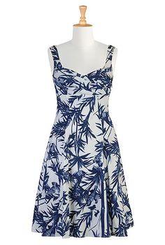 Birds in bamboo porcelain dress, $64.95, eShakti, dresses, pretty dress, bridesmaids, bridal, wedding, spring, summer dress, beach wear