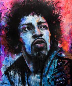 Jim Hendrix Artist: Anna Bulka Fluorescent painting