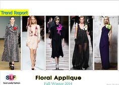Floral Applique #Fashion Trend for Fall Winter 2014 #Fall2014 #Floral #Fall2014Trends #FashionTrends2014