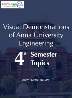 Here is a visual demonstration of 5 topics from Anna University Engineering 4th semester Learn more: [Click on the image] #learnengg #engineering #annauniversity