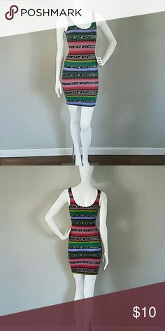 Multicolor tank dress Multicolor tank dress from target worn only once. Xhilaration Dresses Mini