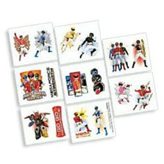 Power Rangers Megaforce Tattoos (16 Pack)