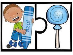 SGBlogosfera. María José Argüeso: PUZZLE DE COLORES Montessori Activities, Color Activities, Kindergarten Activities, Toddler Activities, Free Preschool, Preschool Printables, Preschool Worksheets, Sorting Games, Color Games