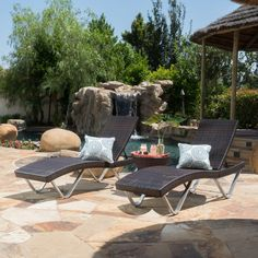 Champlost 3 Piece Lounge Seating Group