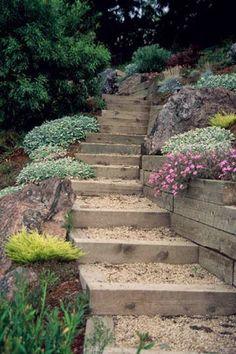 landscaping ideas stair | ... Entertaining Garden ...