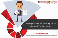 Yes you can claim a deduction with respect to the rent paid under of the Income Tax Act So keep your rent receipts handy & claim deduction without HRA! Call us on Deduction, Income Tax, Investment Property, Investing, Mumbai, Respect, Business, Business Illustration