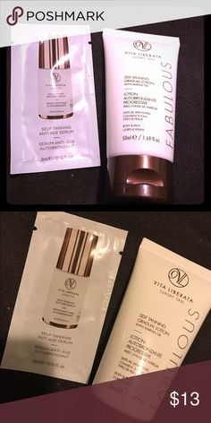 Vita Liberata Luxury Tan products two Vita Liberata Tan Products including, self tanning anti aging serum (0.1 oz) and a tube of self tanning gradual lotion (1.69 oz) never been opened or used , fast shipping Makeup