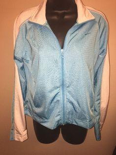 16eddde2b76696 Nike Woman s Athletic Jacket Micro Mesh Long Sleeve Zip Up Size Medium 8 10  C09