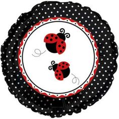 Ladybug Party Mylar Balloon