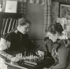 Chess games of the rich and famous:  Helen Keller and Anne Sullivan