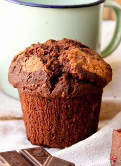 muffin de chocolate y coco