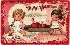 vdc40 Victorian Valentine's Day Valentine by wwwvintagemermaidcom, $3.00