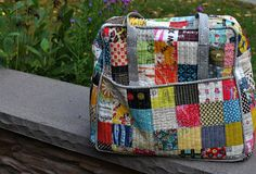 Lucy  Norman: Amy Butler weekender bag idea for quilted sides. Someday I will make a bag.