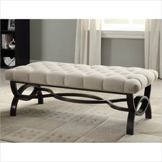 Homelegance Marlena Linen Ottoman Bench In Neutral 4768fa Lowest Price Online On All