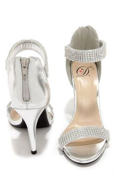 a49d2a59795 Bling on the Night Silver Rhinestone Ankle Strap Heels at Lulus.com!   AnklestrapsHeels