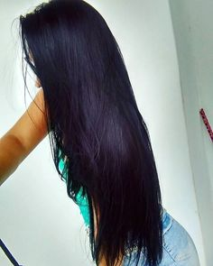Meu pretinho ♥ #Cabelão #ProjetoPocahontas #ProjetoRapunzel Long Dark Hair, Very Long Hair, Beautiful Long Hair, Gorgeous Hair, Long Hair Wedding Styles, Long Hair Styles, Pretty Hairstyles, Straight Hairstyles, Hair Addiction
