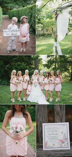 check out all their glamour on a budget wedding