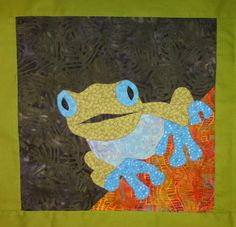 Rainforest frog in blue.