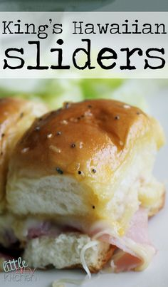 King's Hawaiian Sliders on MyRecipeMagic.com #sliders #kings #hawaiian