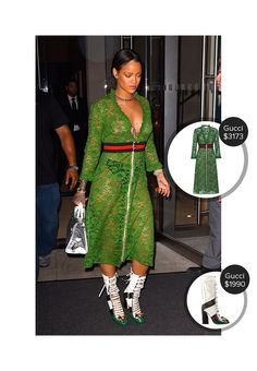 May 27th, 2016. #ootd - Rihanna in a revealing dress in NYC - seen in Gucci. #gucci  #rihanna @mode.ai