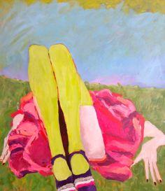 Saatchi Online Artist: Sandy Welch; Acrylic, 2011, Painting Lunch Break- Central Park