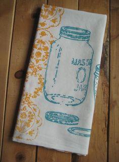 Mason Jar towel