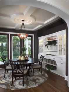 ceiling, built-in run - LOVE Traditional Dining Room Design, Pictures, Remodel, Decor and Ideas