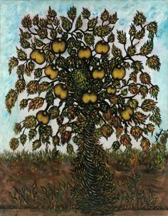 Séraphine Louis (aka Séraphine de Senlis) (French painter) 1864 - 1942 Pommier (Apple Tree), ca. 1928-30 oil on canvas 146 x 114 cm.