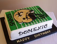 New Orleans Saints Birthday Cake Spencers Bday Football 12th 40th