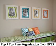 Cute frames for playroom!