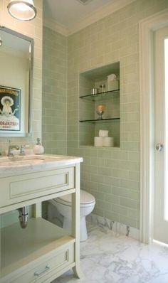Bathroom shelves - put behind toilet?
