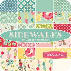 Sidewalks Yardage October Afternoon for Riley Blake Designs - Fat Quarter Shop, eta September 2013
