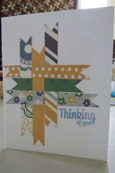This was a card we made in class at Hen & Chicks Studio. I used paper scraps for the weaving strips.