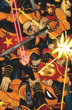Deathstroke vs New Superman by Ryan Sook
