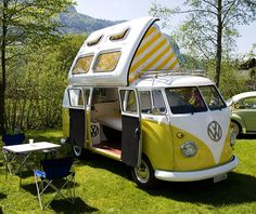 Dormobile 1970 Now if I owned one of these I would be off. Clean fresh air and…