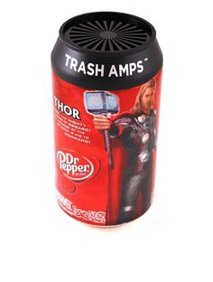Its a great speaker! It has the hero of Asgard on it! and its made from old trash! works with your ipad, iphone, or ipod or anything else with a standard 3.5mm jack plug. Cool!!