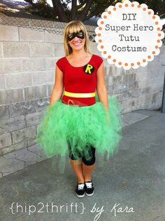 DIY Super Hero Tutu Costumes @Kassie Fetterman let's do this for our costumes next weekend!