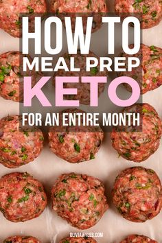Quick Keto Meals, Healthy Freezer Meals, Healthy Low Carb Recipes, Healthy Meal Prep, Keto Recipes, Stay Healthy, Meal Prep Keto, Keto Diet Meals, Ketogenic Diet