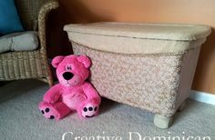 Storage bin to toy box makeover-love this idea using plastic storage tubs.LOVE this idea. Would be too cute in an office with all those extra supplies that we have. Decorate Plastic Bins, Plastic Storage, Storage Bins, Storage Containers, Storage Ideas, Cheap Storage, Storage Solutions, Plastic Tote Makeover, Storage Chest