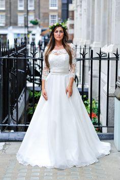 Duchesse Dress and jacket  #duchessedress #duchessejacket #elizabethtodd #bridal #romantic #wedding #vintage #chilternst #flowercrown