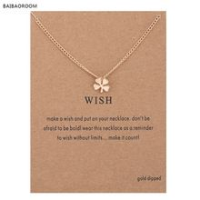 Hot Sale Sparkling Wish Circle Pendant necklace gold plated Clavicle Chains Statement Necklace Women Jewelry Has