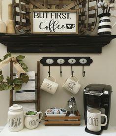 Diy Coffee Station Ideas, How to Make a Coffee Bar at Home, Diy Coffee Bar Plans, Diy Coffee Bar Ideas, Coffee Bar Ideas for Office, Coffee Bar Ideas for Party, #Coffee #Bar #Ideas