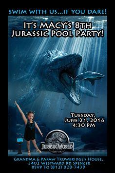 Personalize Dinosaur Invitation RIDE T Rex Birthday Invite
