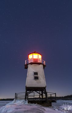 """""""A scary Winters Night- Burlington, Vermont Breakwater"""" another fine photo from…"""