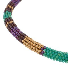 Painted Desert Necklace  free pdf from Fusion Beads.  tubular peyote with complete supply list. #seed #bead #tutorial