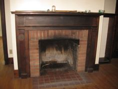 salvaged fireplace, Webster, NY