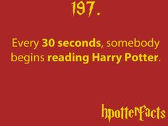 Harry Potter fact. Thank goodness!